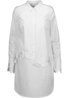 3.1 Phillip Lim Woman Embroidered Cotton-poplin Mini Shirt Dress White