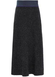 3.1 Phillip Lim Woman Folk Marled Bouclé-knit Midi Skirt Black