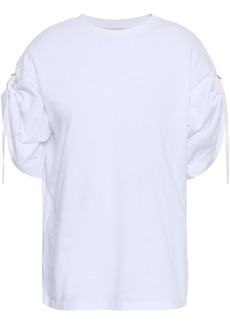 3.1 Phillip Lim Woman Gathered Cotton-jersey Top White