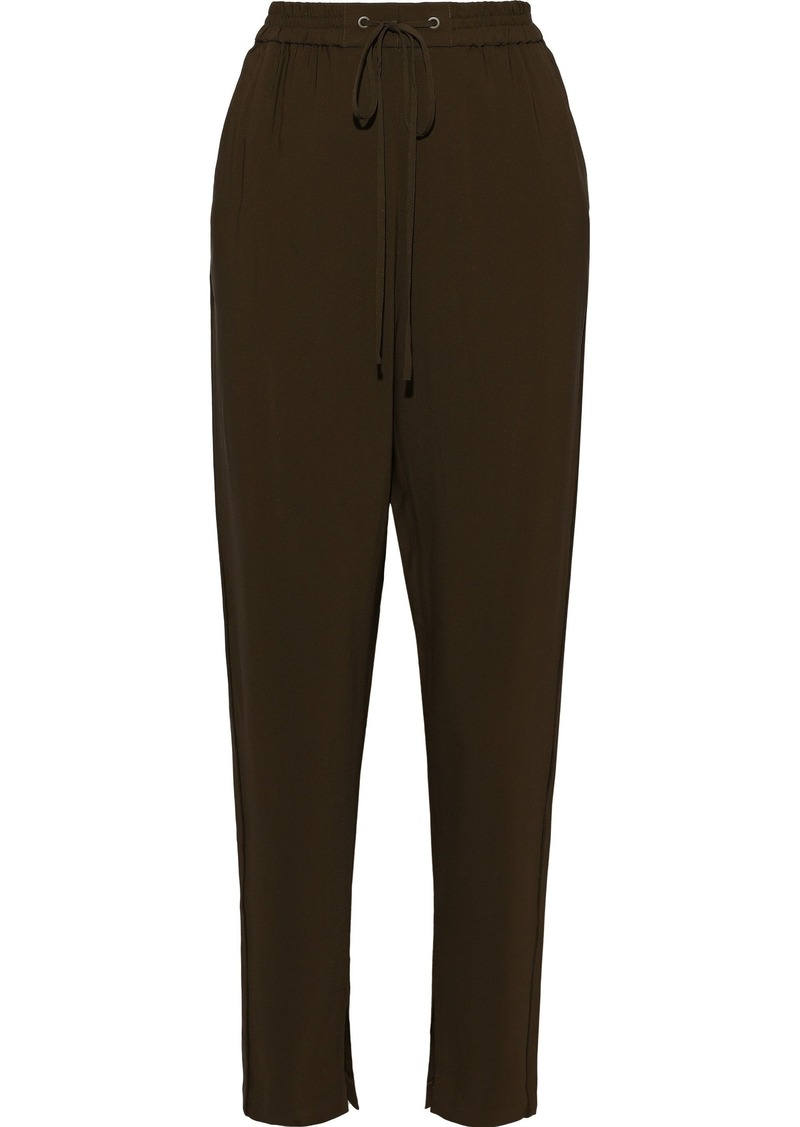 3.1 Phillip Lim Woman Gathered Crepe Tapered Pants Army Green
