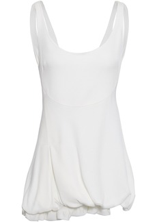 3.1 Phillip Lim Woman Gathered Crepe Top White