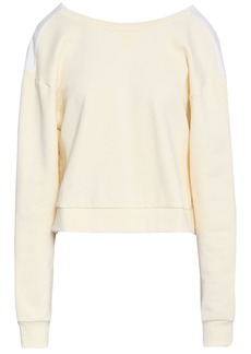 3.1 Phillip Lim Woman Gathered Poplin-paneled French Cotton-terry Top Ivory