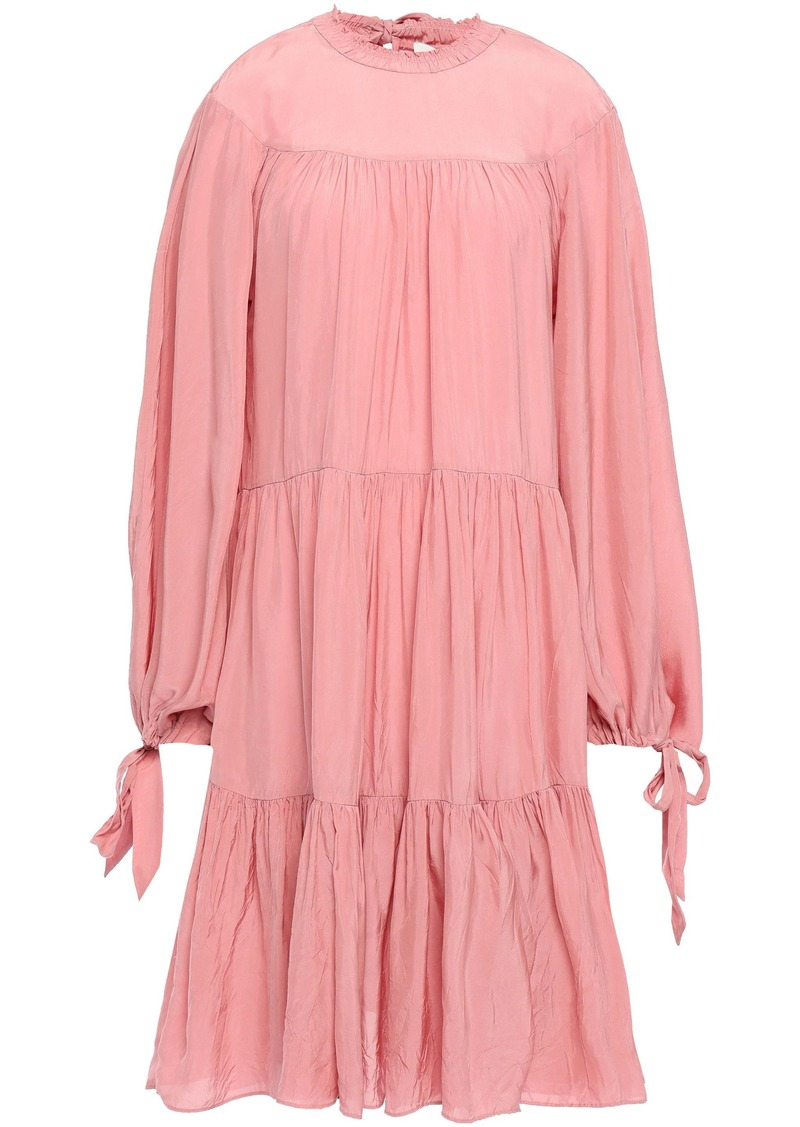 3.1 Phillip Lim Woman Gathered Tiered Crepe Dress Antique Rose