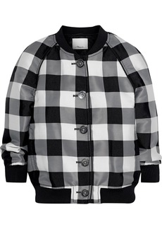 3.1 Phillip Lim Woman Gingham Jacquard Bomber Jacket Black