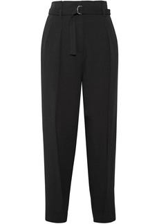 3.1 Phillip Lim Woman High-rise Crepe Tapered Pants Black