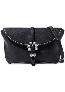 3.1 Phillip Lim Woman Hudson Crystal-embellished Textured-leather Shoulder Bag Black