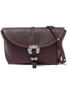 3.1 Phillip Lim Woman Hudson Crystal-embellished Textured-leather Shoulder Bag Burgundy
