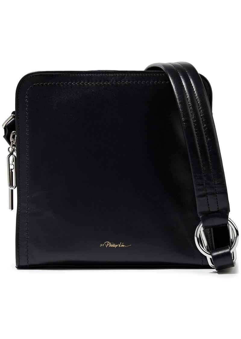 3.1 Phillip Lim Woman Hudson Square Leather Shoulder Bag Black