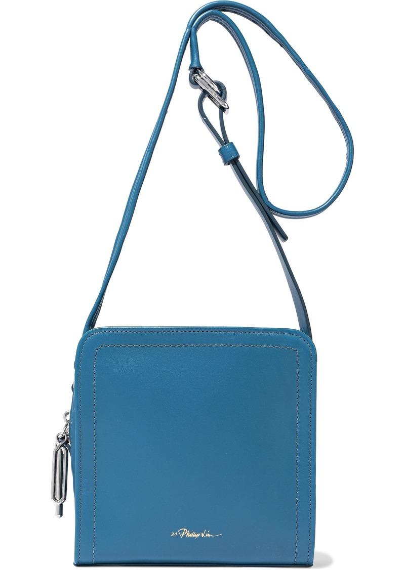3.1 Phillip Lim Woman Hudson Square Mini Leather Shoulder Bag Azure