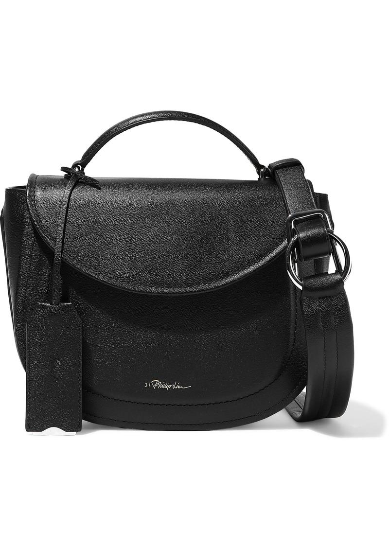 3.1 Phillip Lim Woman Hudson Textured-leather Shoulder Bag Black