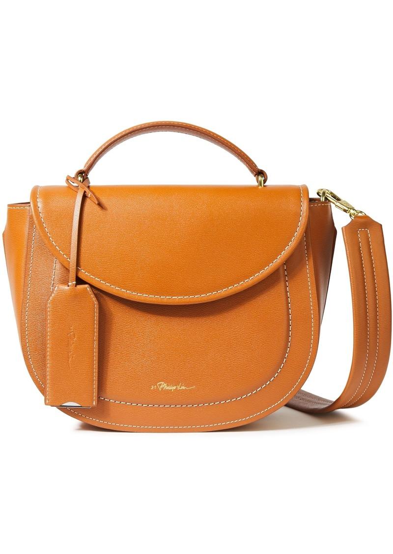 3.1 Phillip Lim Woman Hudson Textured-leather Shoulder Bag Tan