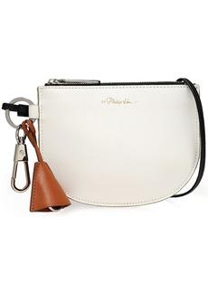 3.1 Phillip Lim Woman Hudson Color-block Textured-leather Clutch White
