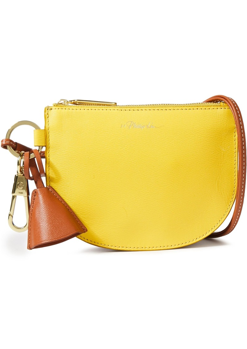 3.1 Phillip Lim Woman Hudson Two-tone Textured-leather Clutch Yellow