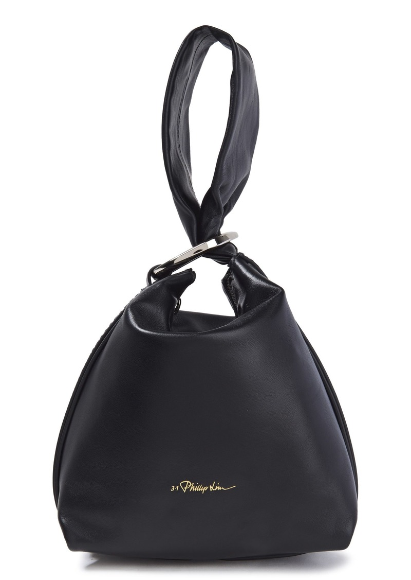 3.1 Phillip Lim Woman Ines Leather Clutch Black