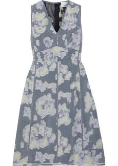 3.1 Phillip Lim Woman Layered Crinkled Fil Coupé Organza Dress Slate Blue