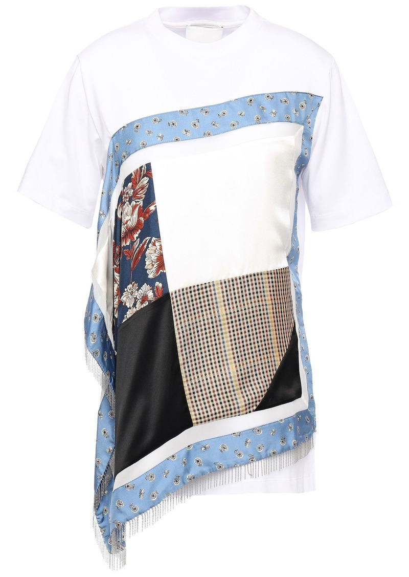 3.1 Phillip Lim Woman Layered Patchwork-effect Cotton-jersey Top Multicolor
