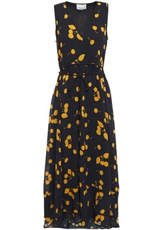 3.1 Phillip Lim Woman Layered Printed Crepe Midi Dress Black