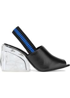 3.1 Phillip Lim Woman Leather And Plexiglas Slingback Mules Black