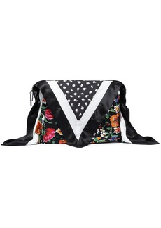 3.1 Phillip Lim Woman Leather-trimmed Patchwork Silk Bag Cover Black