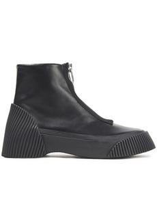 3.1 Phillip Lim Woman Lela Zip-detailed Leather Ankle Boots Black