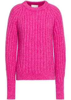 3.1 Phillip Lim Woman Lofty Ribbed-knit Sweater Fuchsia