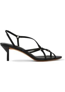 3.1 Phillip Lim Woman Louise Leather Slingback Sandals Black