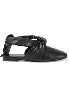 3.1 Phillip Lim Woman Maia Tie-detailed Leather Slippers Black