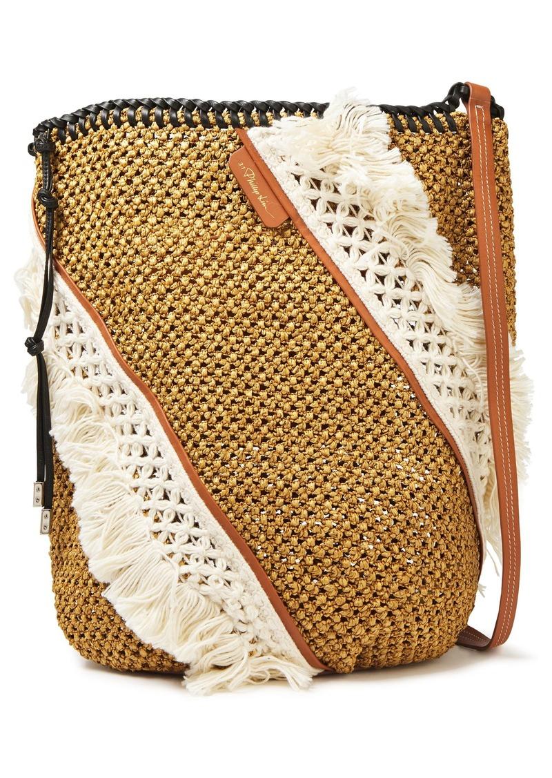 3.1 Phillip Lim Woman Marlee Macramé-paneled Woven Tote Sand