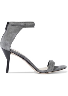 3.1 Phillip Lim Woman Martini Suede Sandals Gray