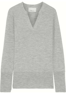 3.1 Phillip Lim Woman Mélange Cashmere-blend Sweater Gray