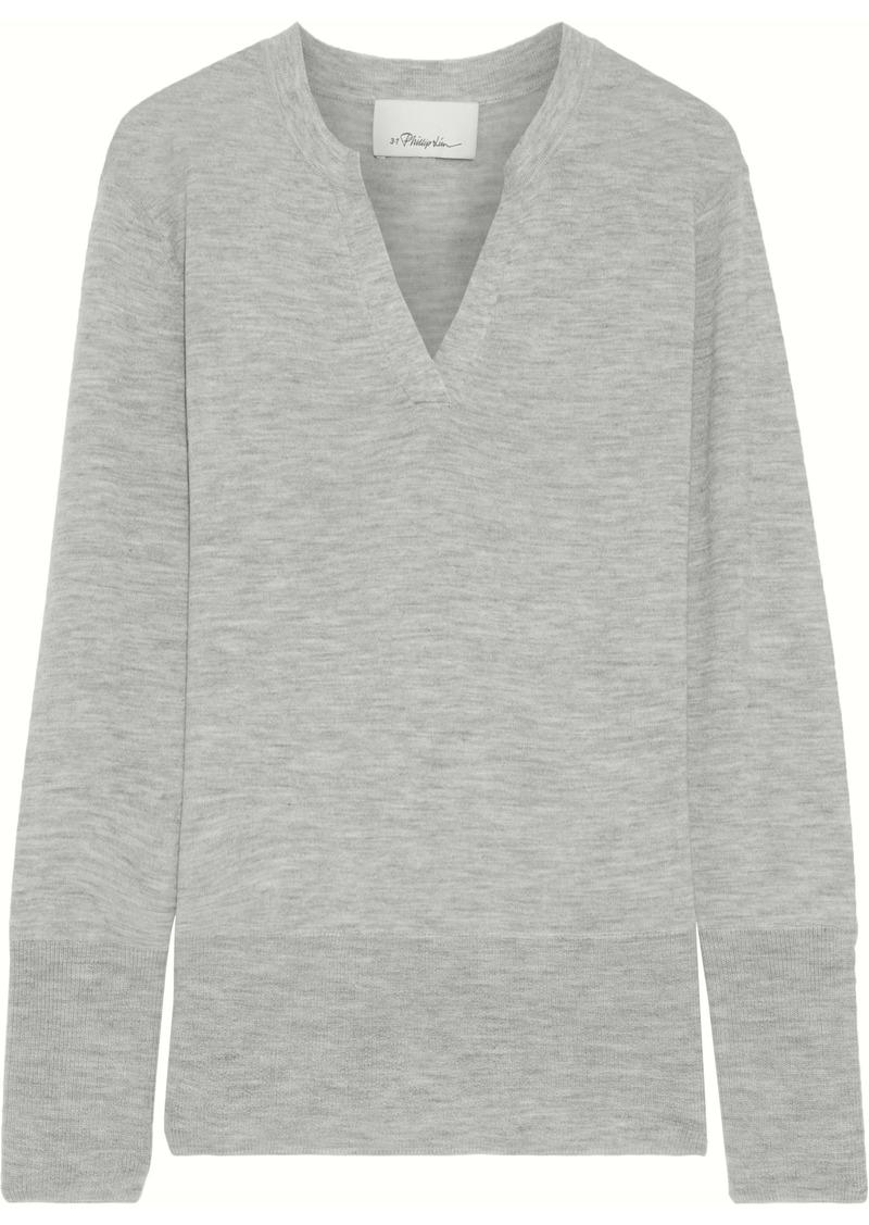 3.1 Phillip Lim Woman Mélange Cashmere-blend Sweater Gray