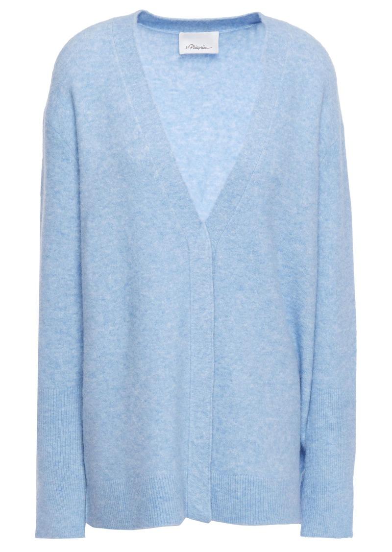 3.1 Phillip Lim Woman Mélange Knitted Cardigan Light Blue