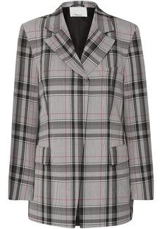 3.1 Phillip Lim Woman Oversized Checked Twill Blazer Gray