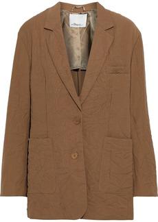 3.1 Phillip Lim Woman Oversized Crinkled-cady Blazer Light Brown