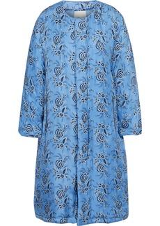 3.1 Phillip Lim Woman Oversized Floral-print Silk-twill Parka Light Blue