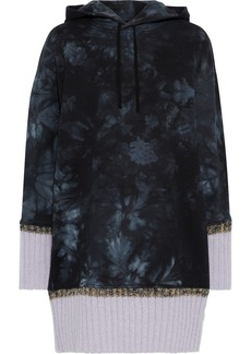 3.1 Phillip Lim Woman Oversized Tie-dyed French Cotton-terry Hoodie Black