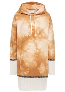 3.1 Phillip Lim Woman Oversized Tie-dyed French Cotton-terry Hoodie Camel