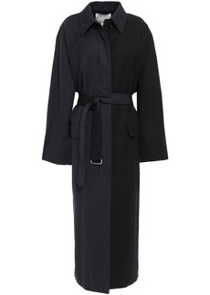 3.1 Phillip Lim Woman Oversized Two-tone Wool-twill Trench Coat Black