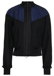 3.1 Phillip Lim Woman Paneled Shell And Wool-blend Jacket Black