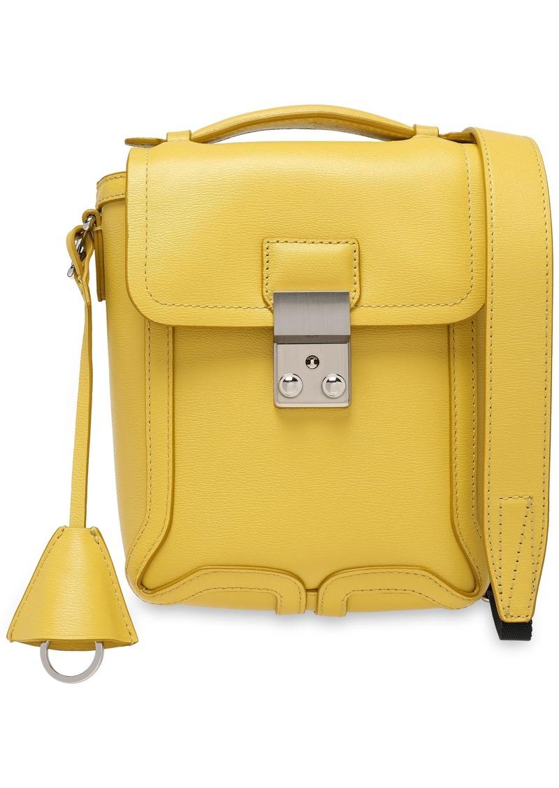 3.1 Phillip Lim Woman Pashli Camera Textured-leather Shoulder Bag Pastel Yellow