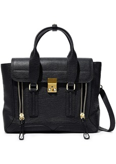 3.1 Phillip Lim Woman Pashli Medium Textured-leather Shoulder Bag Black