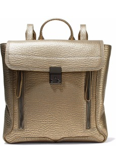 3.1 Phillip Lim Woman Pashli Metallic Textured-leather Backpack Gold