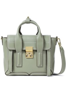 3.1 Phillip Lim Woman Pashli Mini Leather Shoulder Bag Sage Green