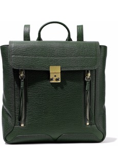 3.1 Phillip Lim Woman Pashli Textured-leather Backpack Dark Green