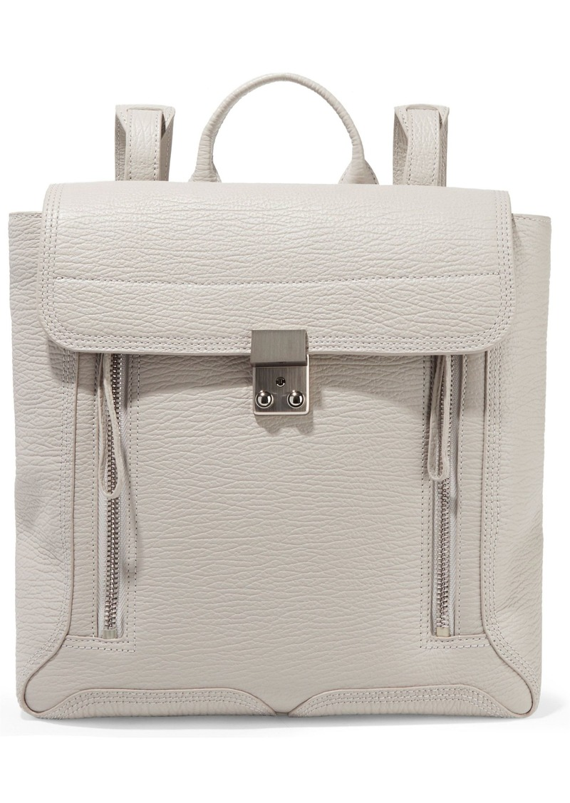 3.1 Phillip Lim Woman Pashli Textured-leather Backpack Ecru