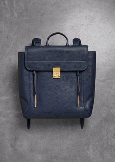 3.1 Phillip Lim Woman Pashli Textured-leather Backpack Storm Blue