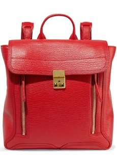 3.1 Phillip Lim Woman Pashli Textured-leather Backpack Tomato Red