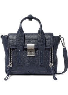 3.1 Phillip Lim Woman Pashli Textured-leather Shoulder Bag Navy