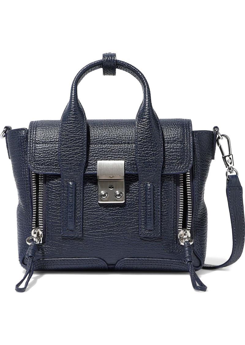 3.1 Phillip Lim Woman Pashli Textured-leather Shoulder Bag Navy