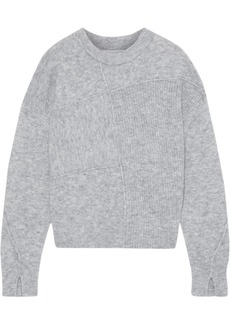 3.1 Phillip Lim Woman Patchwork-effect Brushed Ribbed-knit Sweater Stone